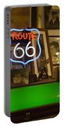 Route 66 Neon Sign 1 Portable Battery Charger