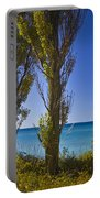 Row Of Cypress Trees At Point Betsie In Michigan No.0924 Portable Battery Charger