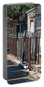 Row Of Tombs St Louis One Cemetery New Orleans Portable Battery Charger