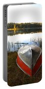 Rowboats At Jade Lake In Northern Saskatchewan Portable Battery Charger