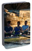 Rowers At Sunset Portable Battery Charger