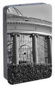 Royal Conservatory In Brussels - Black And White Portable Battery Charger