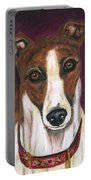 Royalty - Greyhound Painting Portable Battery Charger by Michelle Wrighton