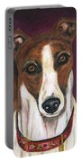 Royalty - Greyhound Painting Portable Battery Charger