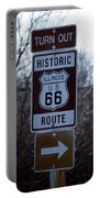 Rt 66 Il Turn Out Signage Portable Battery Charger