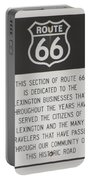 Rt 66 Lexington County Signage Portable Battery Charger