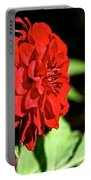 Ruby Red Dahlia Portable Battery Charger