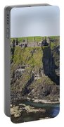 Ruins On Coastal Cliff Portable Battery Charger