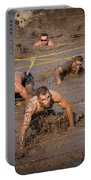 Runners Navigate An Obstacle Course Portable Battery Charger