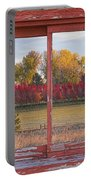 Rural Country Autumn Scenic Window View Portable Battery Charger