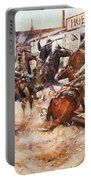 Russell Cowboy Art, 1909 Portable Battery Charger