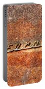 Rusted Antique Chevrolet Logo Portable Battery Charger