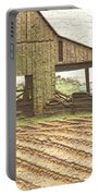 Rustic Barn And Field Rows Portable Battery Charger