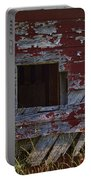 Rustic Barn Red Peeling Paint Portable Battery Charger
