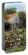 Rustic Cactus Abandoned Barn Portable Battery Charger