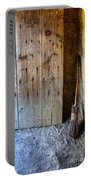 Rustic Door And Broom Portable Battery Charger
