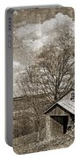 Rustic Hillside Barn Portable Battery Charger
