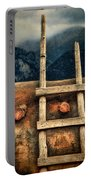Rustic Ladder On Adobe House Portable Battery Charger