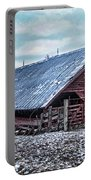Rustic Red Winter Barn Portable Battery Charger