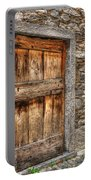 Rustic Stone House With Old Portable Battery Charger