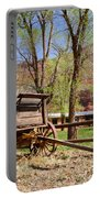 Rustic Wagon At Historic Lonely Dell Ranch - Arizona Portable Battery Charger