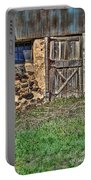 Rustic Wooden Door In Stone Barn Portable Battery Charger