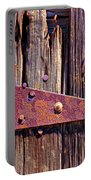 Rusty Barn Door Hinge  Portable Battery Charger