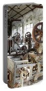 Rusty Machinery Portable Battery Charger by Carlos Caetano