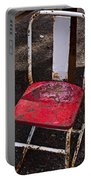 Rusty Metal Chair Portable Battery Charger