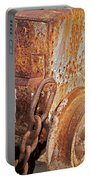 Rusty Metal Portable Battery Charger