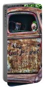 Rusty Truck Door Portable Battery Charger