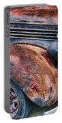 Rusty Truck Hood And Fender Portable Battery Charger