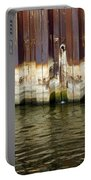 Rusty Wall By The River Portable Battery Charger
