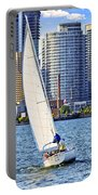 Sailboat In Toronto Harbor Portable Battery Charger