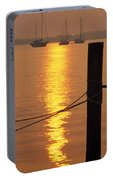 Sailboats At Sunset Portable Battery Charger