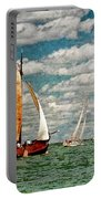 Sailboats In The Netherlands By The Zuiderzee Portable Battery Charger