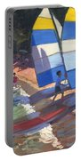 Sailboats South Of France Portable Battery Charger