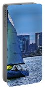 Sailing On Boston Harbor Portable Battery Charger