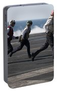 Sailors Clear The Landing Area Portable Battery Charger
