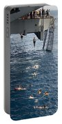 Sailors Jump To The Sea During A Swim Portable Battery Charger