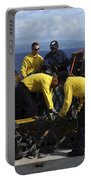 Sailors Prepare Pallets Of Cargo Aboard Portable Battery Charger