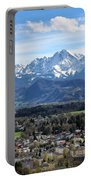 Salzburg Mountains Portable Battery Charger by Lauri Novak