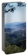 San Francisco As Seen Through The Redwoods On Mt Tamalpais Portable Battery Charger