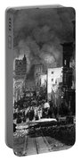San Francisco Burning After 1906 Portable Battery Charger