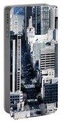 San Francisco Skyline-grunge Portable Battery Charger
