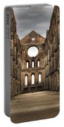 San Galgano  - A Ruin Of An Old Monastery With No Roof Portable Battery Charger