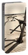 Sand And Fences Portable Battery Charger by Heather Applegate