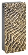 Sand Ripples In Shallow Water Portable Battery Charger