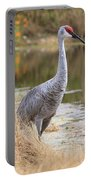 Sandhill Crane Beauty By The Pond Portable Battery Charger
