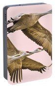 Sandhill Crane Family II Portable Battery Charger